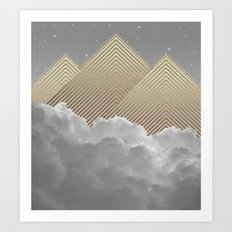 Silence is the Golden Mountain Art Print