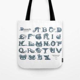 Dracoserific, a font full of Dragons (light) Tote Bag