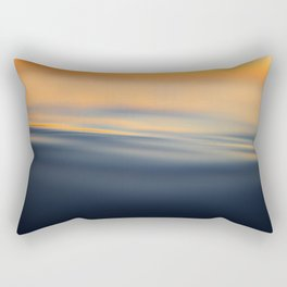 Calm sea at sunset time Rectangular Pillow