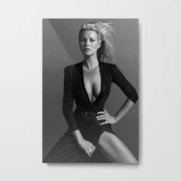 Kate Moss Black Dress Poster, Kate Moss Print, Kate Moss Poster, Fashion Prints, Scandi Wall Art, Black White Prints, Fashion Poster Metal Print