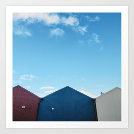 Blue Sky Over the Queensferry Marina Roof Art Print
