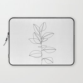 One line plant illustration - Dany Laptop Sleeve