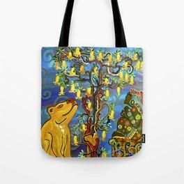 """Xochipilli's Golden Child"" by ICA PAVON Tote Bag"