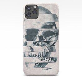 Glitch Skull Mono iPhone Case