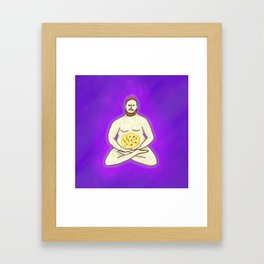 Yoga Pizza Framed Art Print