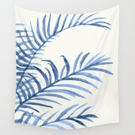 Blue Leaves II Wall Tapestry