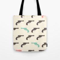 gun Tote Bags featuring Gun by Grace