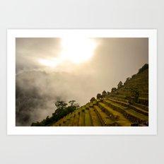 Machu Picchu terraces Art Print