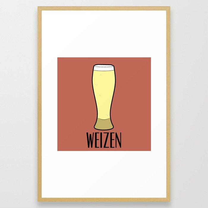 Beer Glasses (Weizen) Framed Art Print