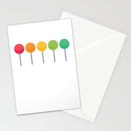 Rainbow lollypops Stationery Cards