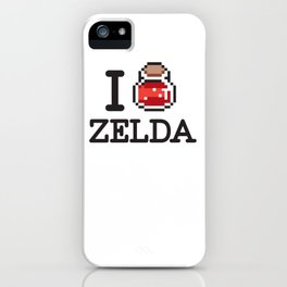 I LOVE ZELDA Black iPhone Case