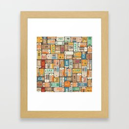Luggage Tags Retro Framed Art Print