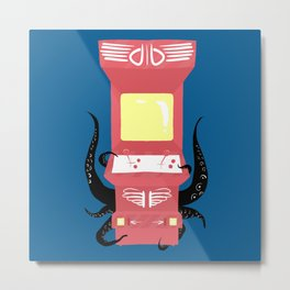 Haunted Arcade Metal Print