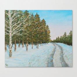 Frozen Path Canvas Print