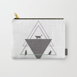 Cats and Geometric Carry-All Pouch