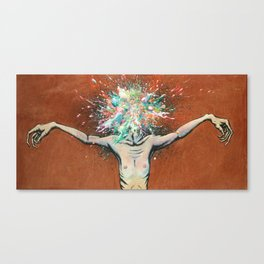 The Vulnerability Evoked in Failing to Capture the Mind's Ceaselessly Combusting Ephemera Canvas Print
