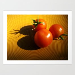 Abstract Tomato Art Print