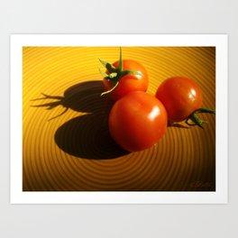 Abstract Tomato Art Print