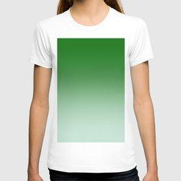 Green to Pastel Green Horizontal Linear Gradient T-shirt