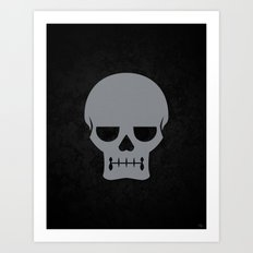 Gray Skull Art Print