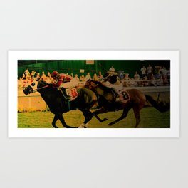 Horse Race, For The Win... Art Print