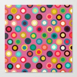 pink pop spot Canvas Print