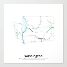 Highways of the USA – Washington Canvas Print