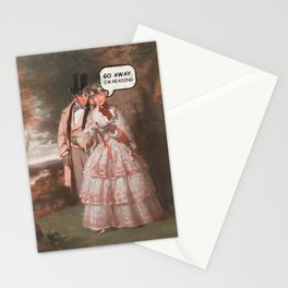 GO AWAY I'M READING Stationery Cards