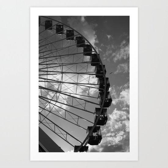 Ferris Wheel, Navy Pier, Chicago, Illinois Art Print