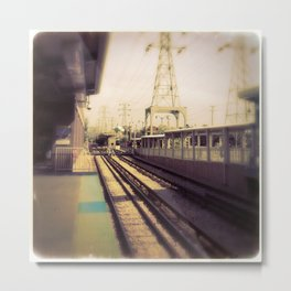 Subway train station Metal Print