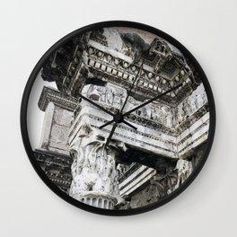 Ancient Roman Columns Wall Clock