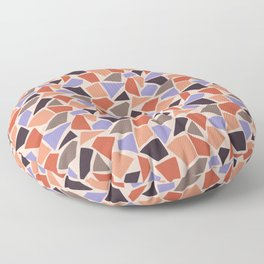 Mosaic pattern with geometrical shapes Floor Pillow