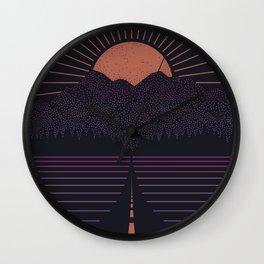 The Long Way Home Wall Clock