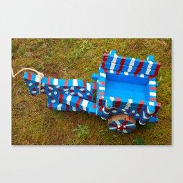 Miniature ox-cart Canvas Print
