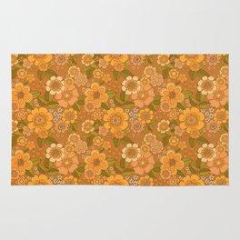 Flower power soft Apricot Rug