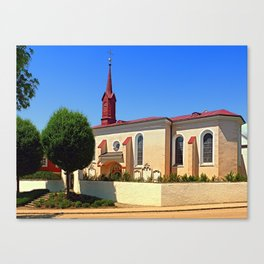The cemetary church of Schlaegl I   architectural photography Canvas Print