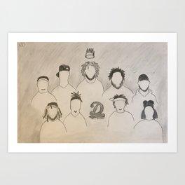 J. Cole - Dreamville - Drawing Art Print