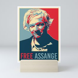 Free Julian Assange Mini Art Print