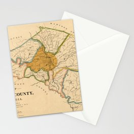 Map Of Athens Georgia 1893 Stationery Cards