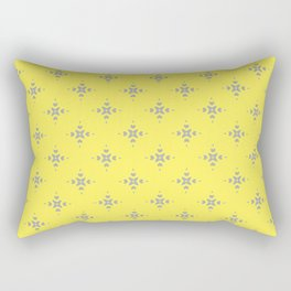 Ornamental Pattern with Lemon and Grey Yellow Colourway Rectangular Pillow