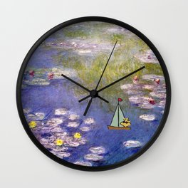 Snoopy meets Monet Wall Clock