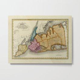 Map Of New York 1829 Metal Print