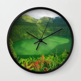 Lake in Azores Wall Clock