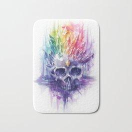 Rainbow Crystal Skull Bath Mat