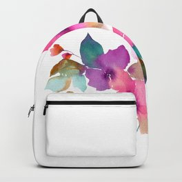 Lovely pink flowers. Watercolor florals Backpack