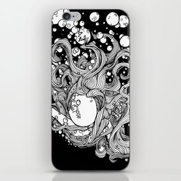 Underwater - Night Swimming // Splash // Bubbles iPhone Skin