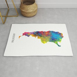 Argentina Watercolor Map Rug