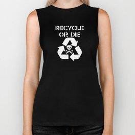 Recycle White Biker Tank