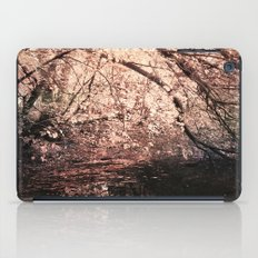 Light reflected in black water iPad Case