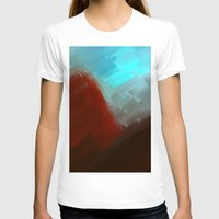 free shipping T-shirts featuring Mountains in blue by Ordiraptus